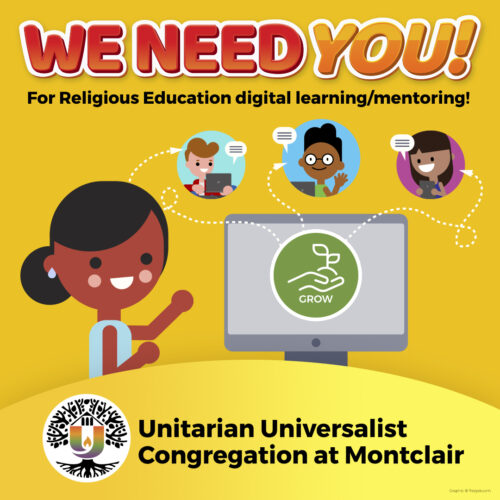 We need YOU! for religious education digital learning/mentoring