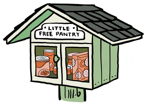 Little Free Pantry Ribbon Cutting