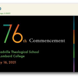 Celebrate the Graduation of Charles Loflin and Intern Ali K.C. Bell from Meadville Lombard Theological School