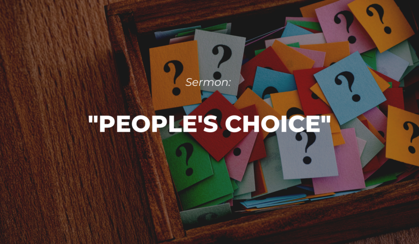 People's Choice –  A Question Box Challenge!